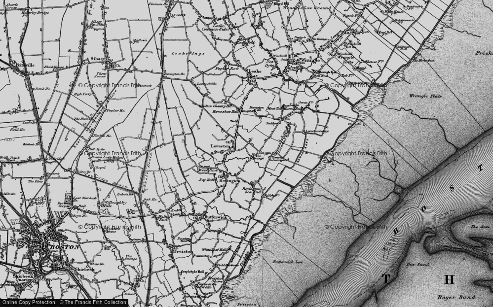 Old Map of Leverton Highgate, 1898 in 1898