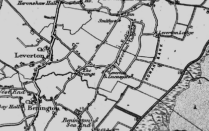 Old map of Leverton Lucasgate in 1898