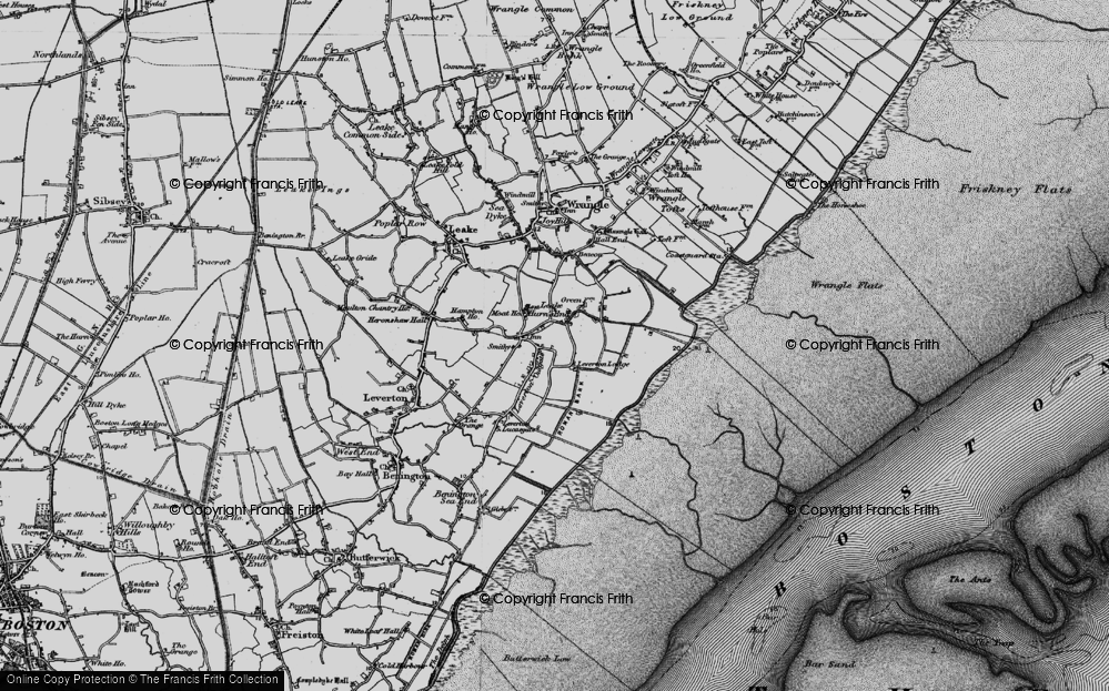 Old Map of Leverton Outgate, 1898 in 1898