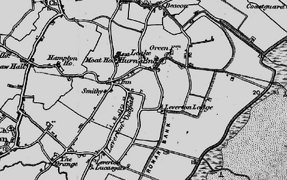 Old map of Leverton Outgate in 1898