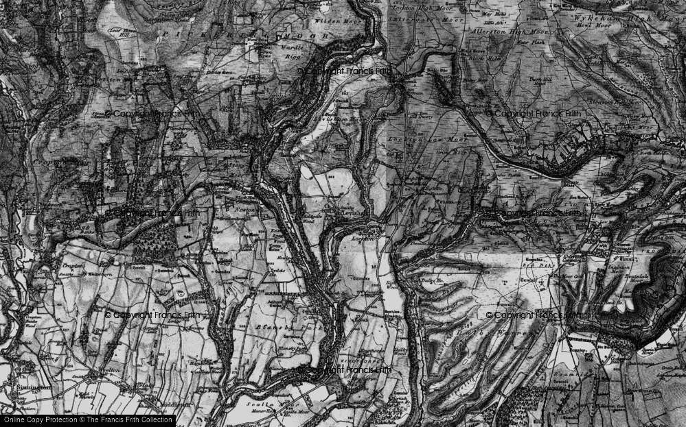 Old Map of Historic Map covering Levisham Beck in 1898