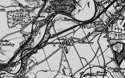 Old map of Levitt Hagg in 1895