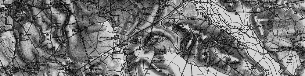 Old map of Lew in 1895