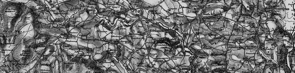 Old map of Tinney Hall in 1895