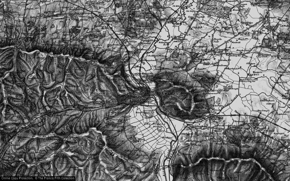 Old Map of Lewes, 1895 in 1895