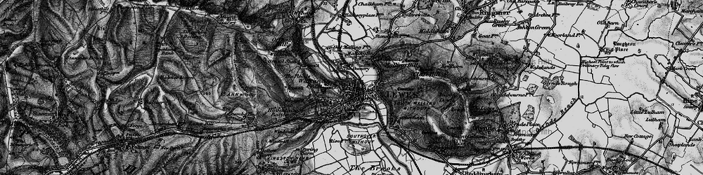 Old map of Lewes in 1895