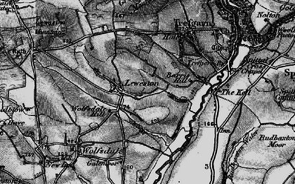 Old map of Leweston in 1898