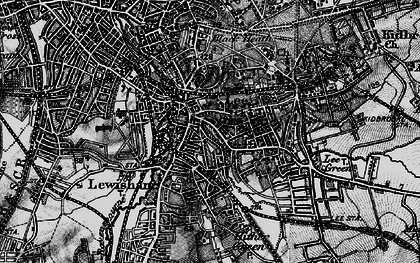 Old map of Lewisham in 1896