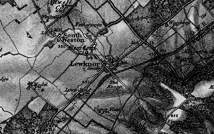 Old map of Aston Rowant National Nature Reserve in 1895