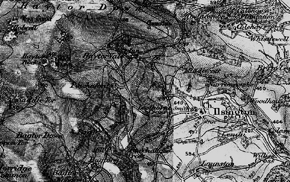 Old map of Bag Tor in 1898