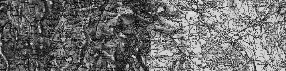 Old map of Lewthorn Cross in 1898
