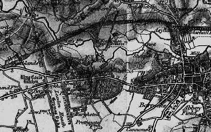 Old map of Lexden in 1896