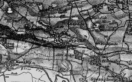 Old map of Leyburn in 1897