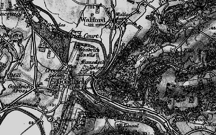 Old map of Leys Hill in 1896