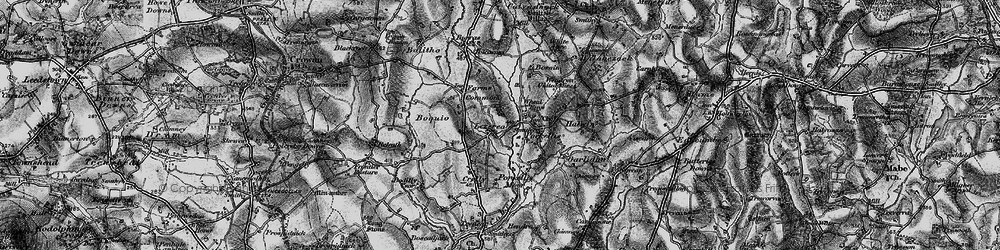 Old map of Lezerea in 1895