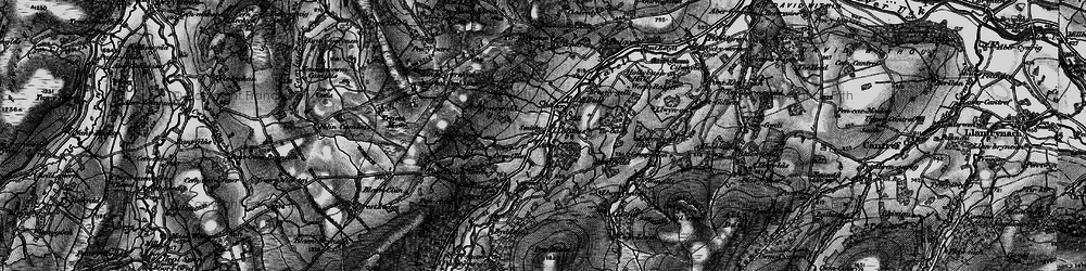 Old map of Afon Tarell in 1898