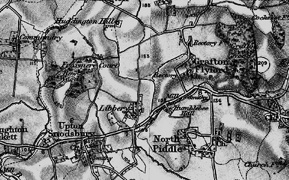 Old map of Libbery in 1898