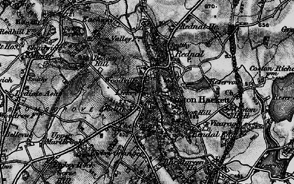 Old map of Lickey Hills in 1899