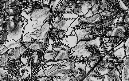 Old map of Lickey End in 1898