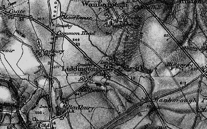 Old map of Liddington Hill in 1898