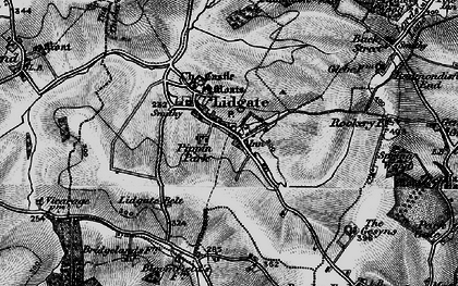 Old map of Lidgate in 1898