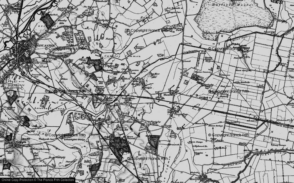 Old Map of Lidget, 1895 in 1895