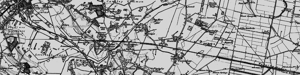 Old map of Lidget in 1895