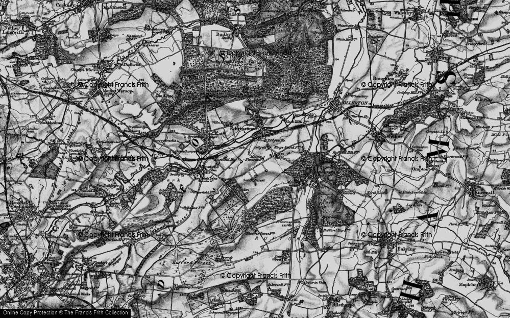 Old Map of Lidgett, 1899 in 1899