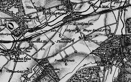 Old map of Amen Corner in 1899