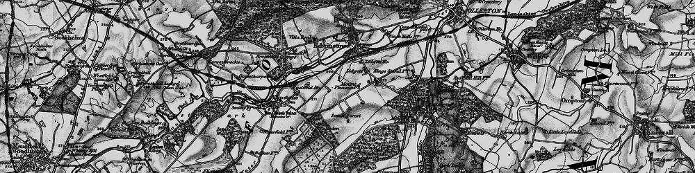 Old map of Amen Corner in 1899