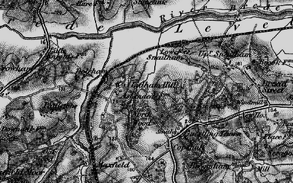 Old map of Ashenden in 1895