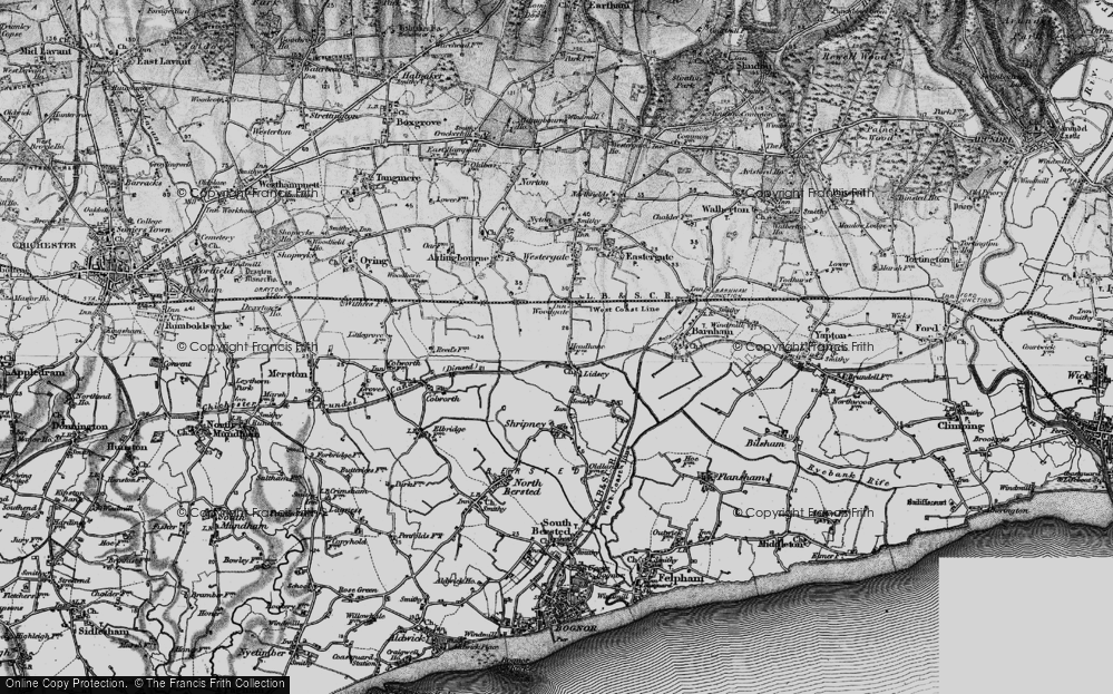 Old Map of Lidsey, 1895 in 1895