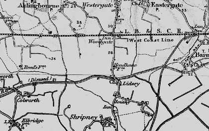 Old map of Lidsey in 1895
