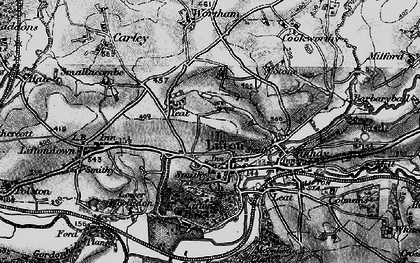 Old map of Lifton Park in 1896