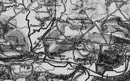 Old map of Liftondown in 1896
