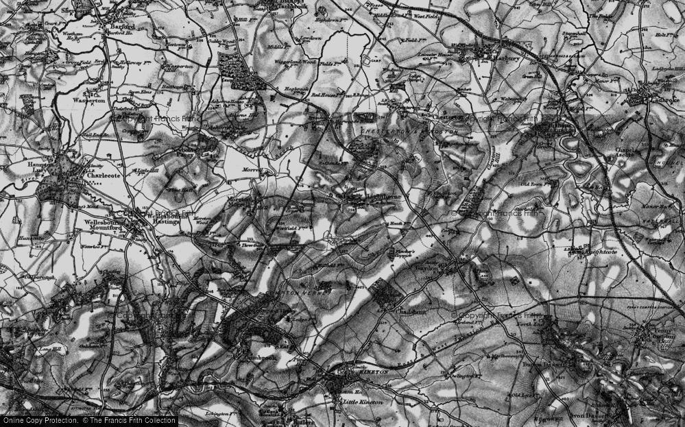 Old Map of Lighthorne, 1898 in 1898