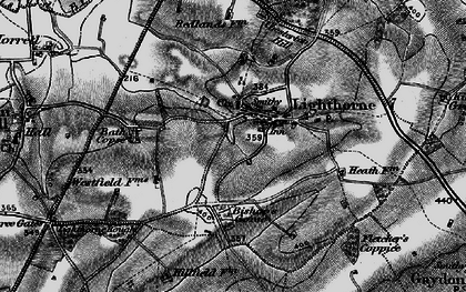 Old map of Lighthorne in 1898