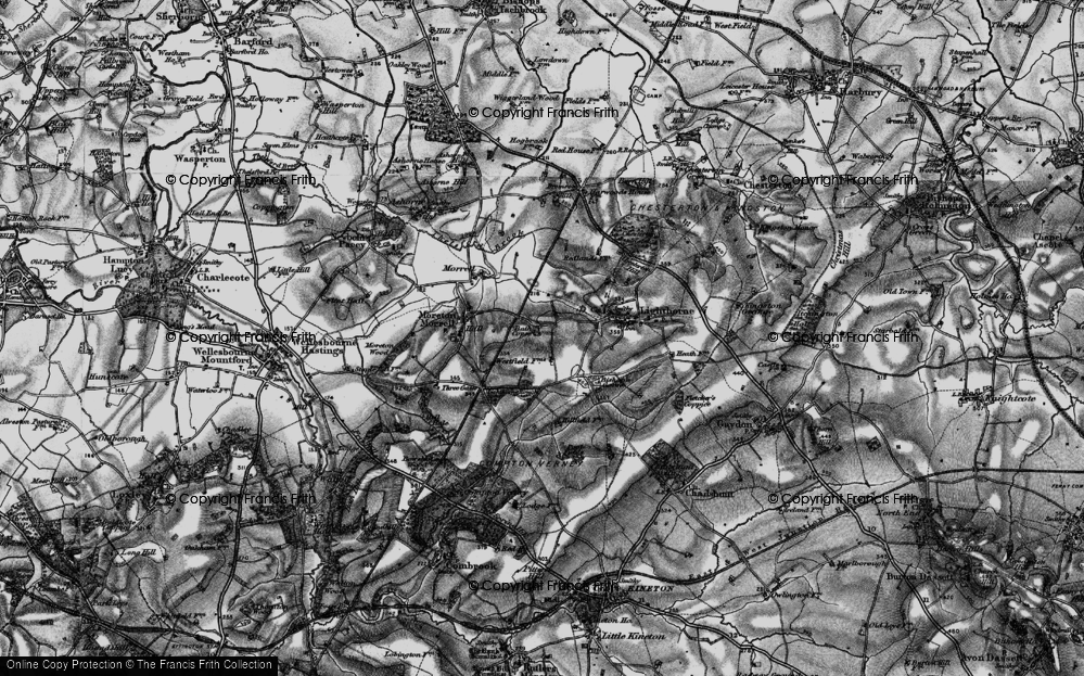 Old Map of Lighthorne Rough, 1898 in 1898