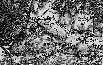 Old map of Lightwater in 1896