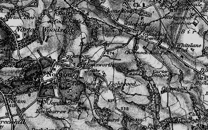 Old map of Lightwood in 1896