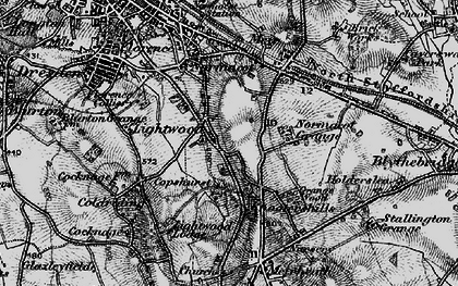 Old map of Lightwood in 1897