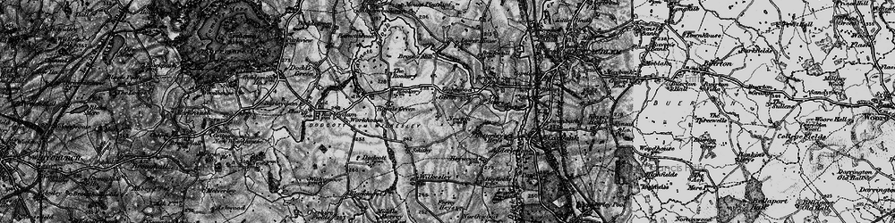 Old map of Lightwood Green in 1897