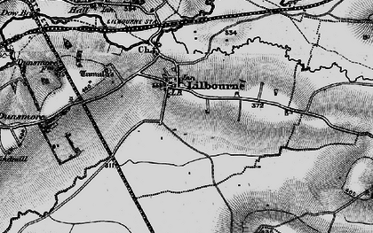 Old map of Lilbourne in 1898