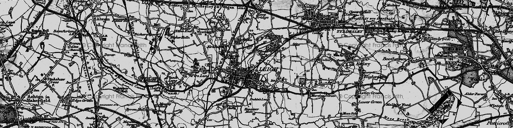 Old map of Lilford Park in 1896