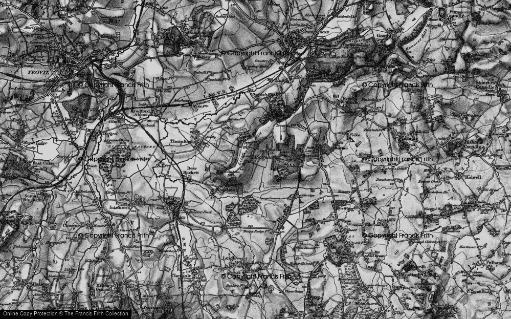 Old Map of Lillington, 1898 in 1898