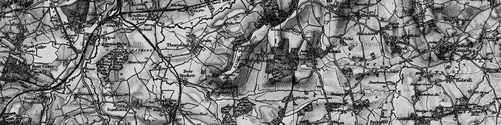Old map of Lillington in 1898