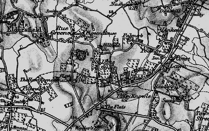 Old map of Lime Street in 1896