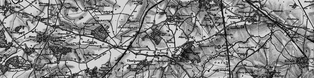 Old map of Lime Tree Village in 1898