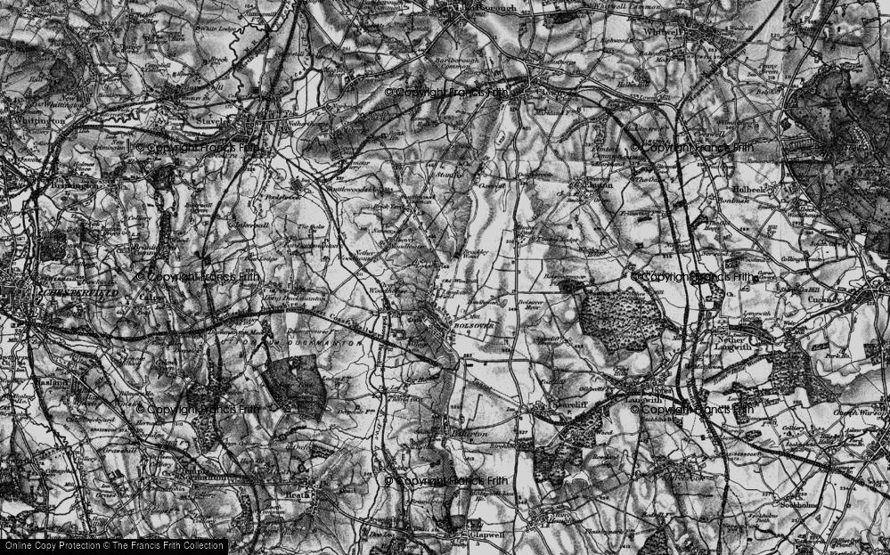 Old Map of Limekiln Field, 1896 in 1896