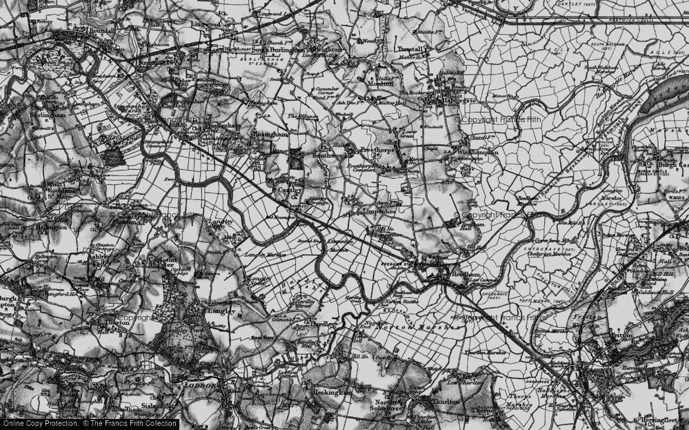 Old Map of Limpenhoe, 1898 in 1898